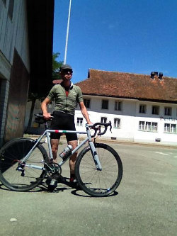 Werner with his bike by Telai Forgione
